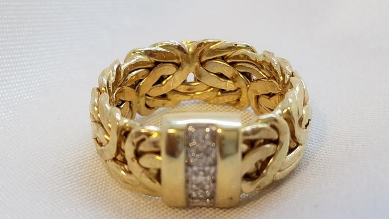 Lady's Diamond Fashion Ring 4 Diamonds .04 Carat T.W. 14K Yellow Gold 3.3g