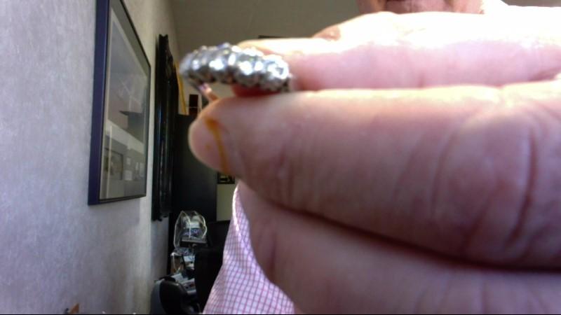 Lady's Platinum-Diamond Anniversary Ring 5 Diamonds 1.15 Carat T.W.