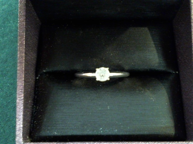 Lady's Diamond Engagement Ring .25 CT. 14K White Gold 1.8g