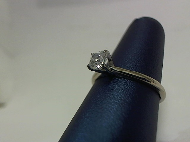 Lady's Diamond Engagement Ring .46 CT. 14K White Gold 2.1g