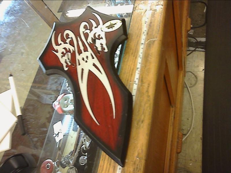 FANTASY MASTER DOUBLE DRAGON SWORD W/2 DETACHABLE SMALL KNIVES & PLAQUE