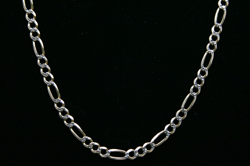 "24"" FIGARO STYLE 14K 2TONE GOLD CHAIN 14.2g"