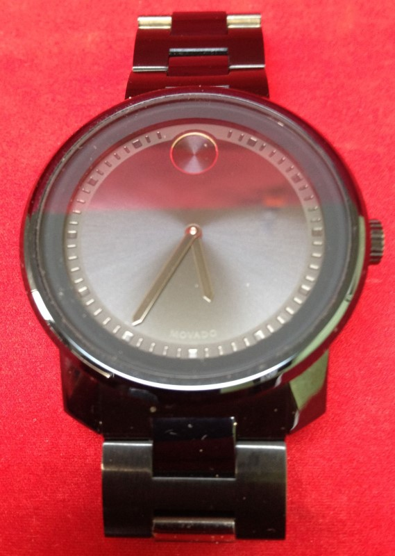 MOVADO Gent's Wristwatch MB.01.1.34.6159 PVD STAINLESS STEEL WATCH