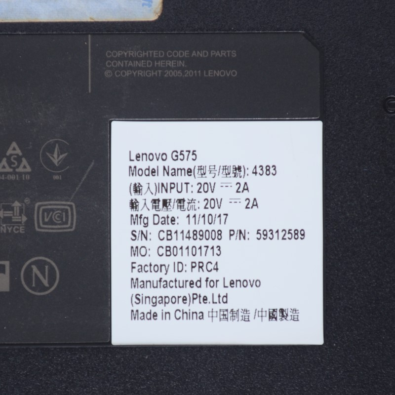 "Lenovo G575-4383 15.6"" 2GB RAM AMD C-50 1.00GHz 320GB HDD Laptop *"