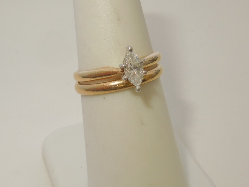 Lady's Diamond Wedding Set .32 CT. 14K Yellow Gold 3.8g
