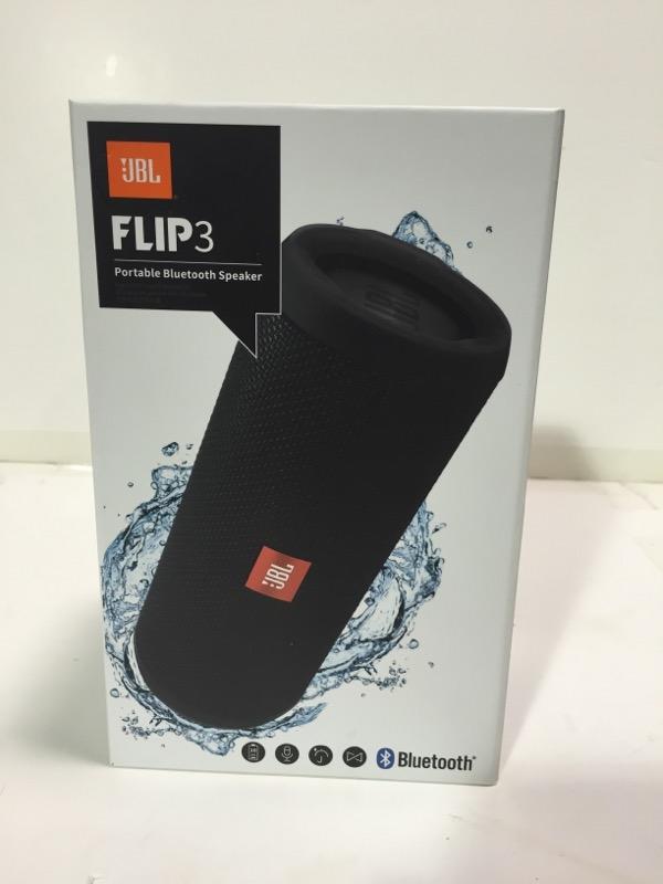 JBL Flip 3 Portable Wireless Bluetooth Speaker Black