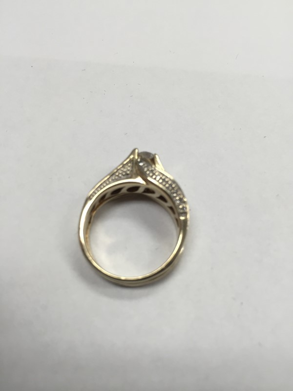 Lady's Diamond Engagement Ring 43 Diamonds .52 Carat T.W. 10K Yellow Gold 4.6g
