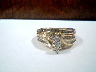 Lady's Diamond Wedding Set 35 Diamonds .41 Carat T.W. 14K Yellow Gold 4.9g