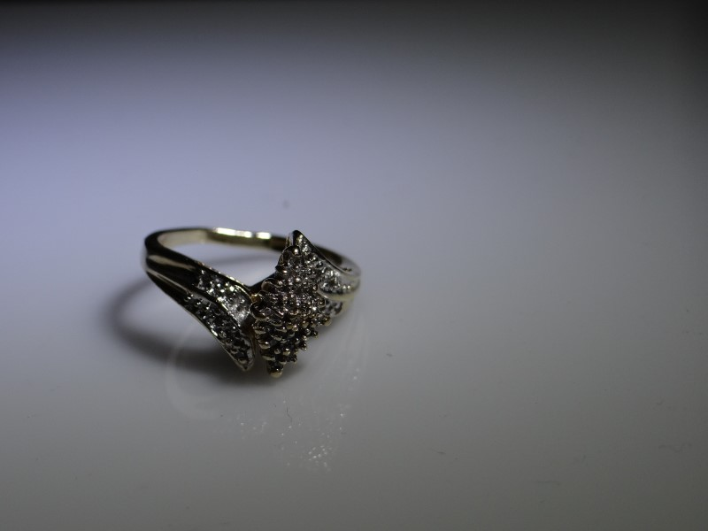 Lady's Diamond Fashion Ring 26 Diamonds .26 Carat T.W. 10K Yellow Gold 3.89g