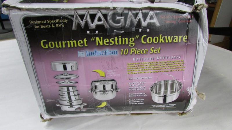 magma gourmet nesting cookware 10 piece