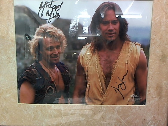 AUTOGRAPHED BY KEVIN SORBO & MICHAEL HURST