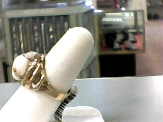 Pearl Gent's Stone Ring 10K Yellow Gold 6.2dwt Size:8