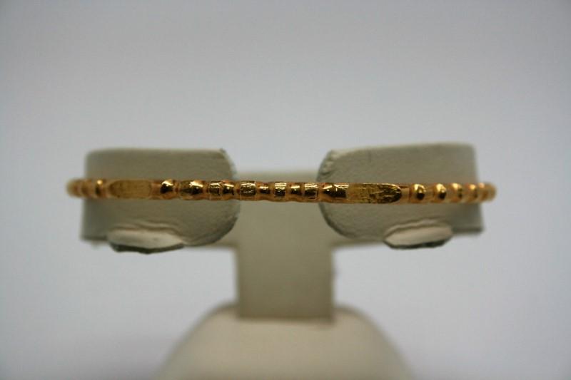 BANGLE FANCY DESIGN 18K YELLOW GOLD BRACELET