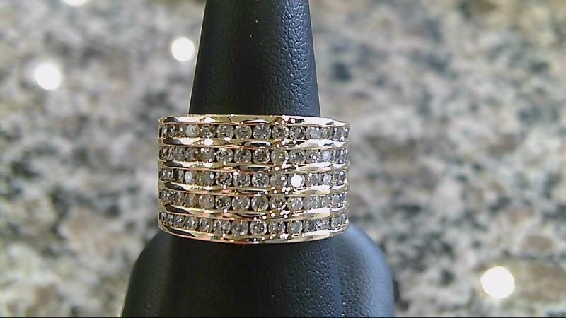 Lady's Diamond Wedding Band 75 Diamonds .75 Carat T.W. 14K Yellow Gold 8.5g