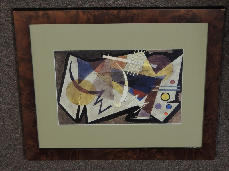 "ABSTRACT SUPREMATISM FRAMED PRINT 14""H x 16.5""W"