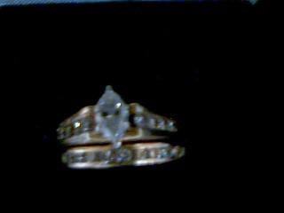 Lady's Diamond Wedding Set 17 Diamonds 1.13 Carat T.W. 14K Yellow Gold 6.9g