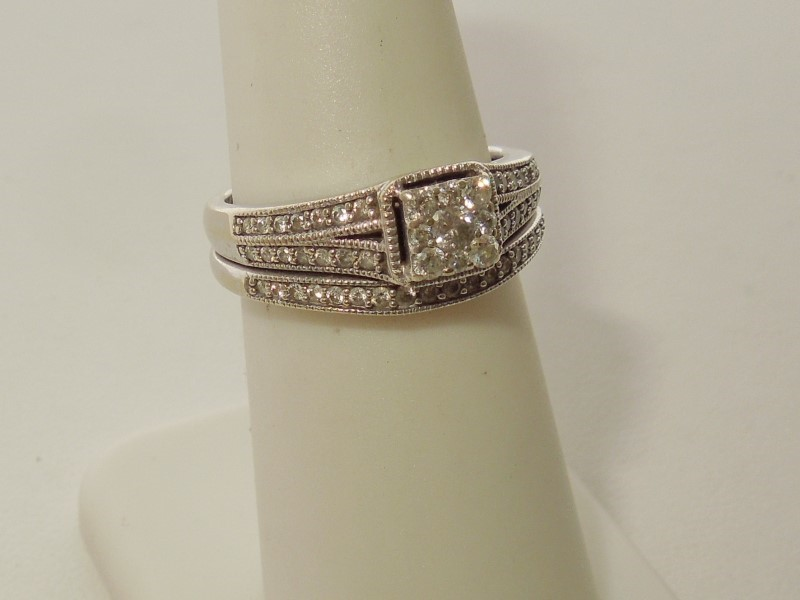 Lady's Diamond Fashion Ring 53 Diamonds .480 Carat T.W. 10K Yellow Gold 4.8g