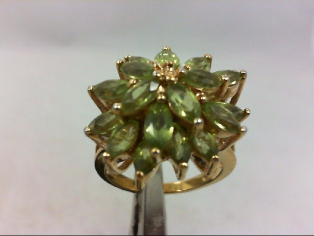 Green Stone Lady's Silver & Stone Ring 925 Silver 8.6g