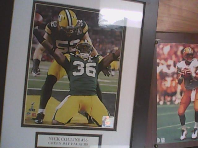 nick collins framed photo