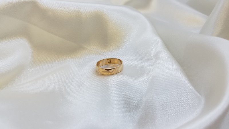 John Hardy Lady's Gold Wedding Band 18K Yellow Gold 4.2g Size:5.5