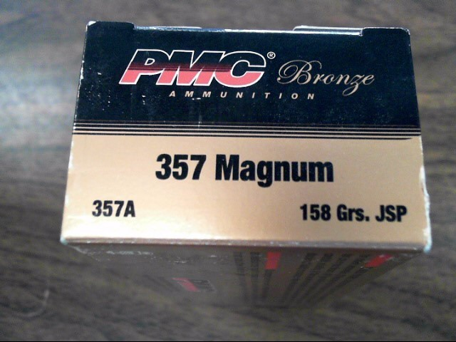 PMC AMMUNITION Ammunition .357 MAGNUM 158 GR JSP