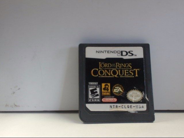 NINTENDO DS LORD OF THE RINGS CONQUEST Game Only