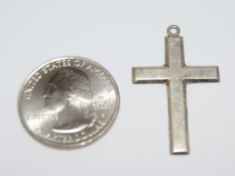 Simple Sterling Silver Polished Cross Pendant