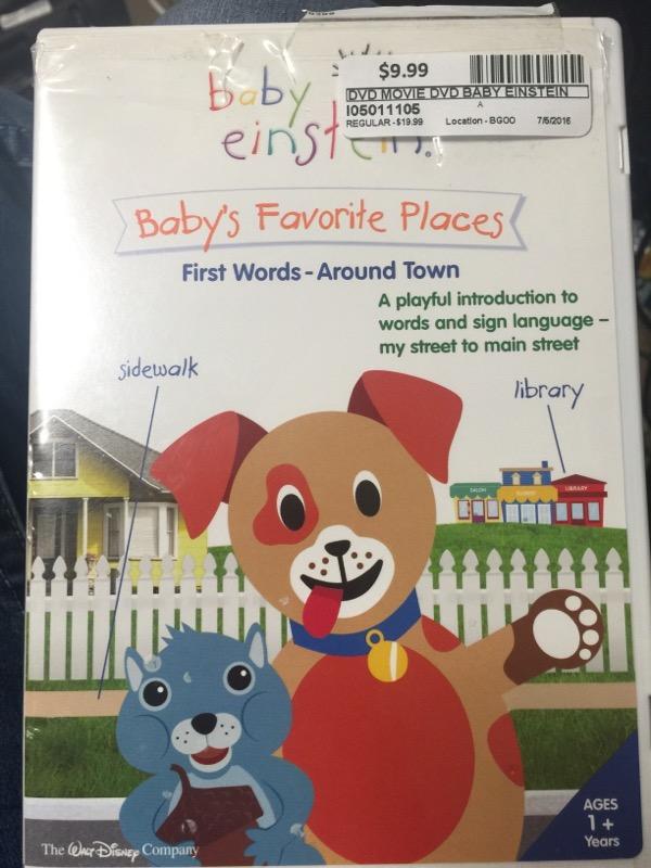 BABY EINSTEIN BABYS FAVORITE PLACES FIRST WORDS-AROUND TOWN