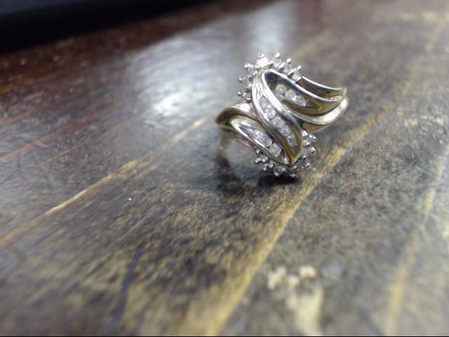 Lady's Diamond Cluster Ring 10 Diamonds .10 Carat T.W. 14K Yellow Gold 3.4g