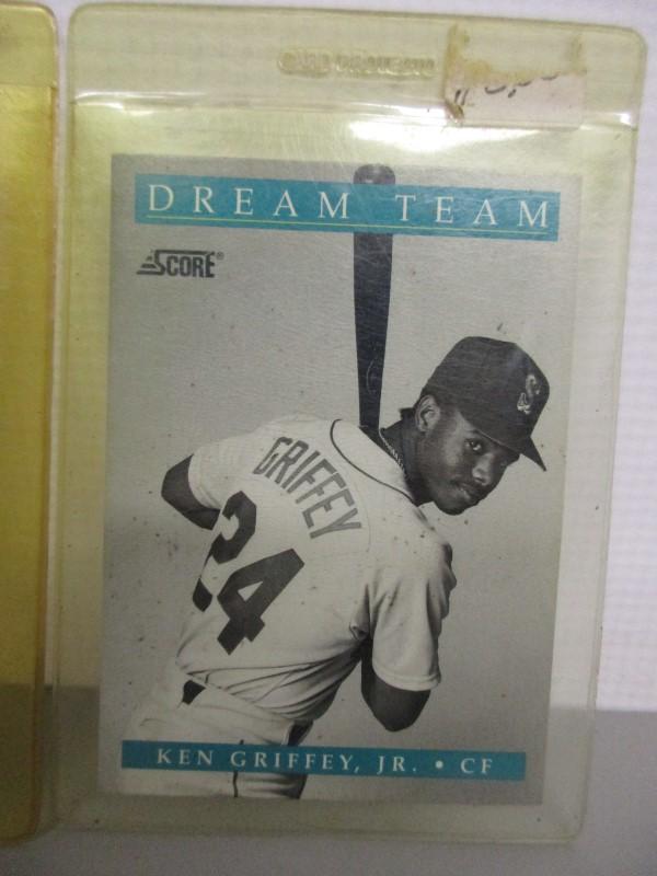 LOT OF 4 KEN GRIFFEY JR. CARDS, 1989-91, ROOKIE