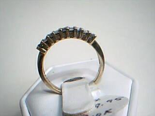 Lady's Gold-Diamond Anniversary Ring 22 Diamonds .22 Carat T.W. 10K Yellow Gold