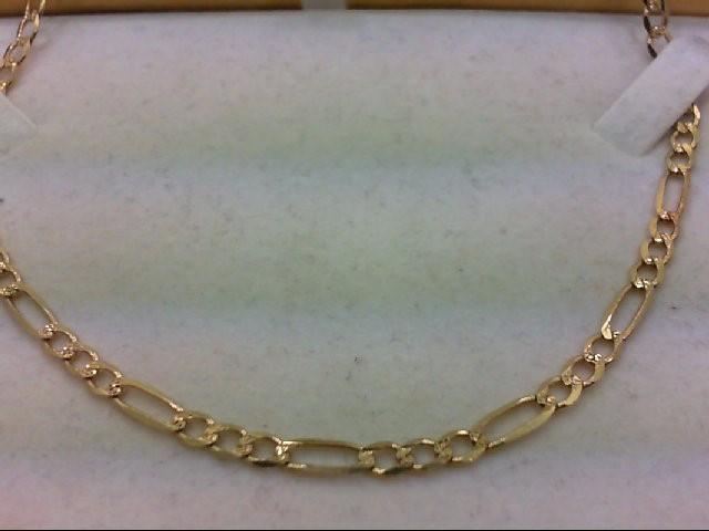 """24"""" Gold Figaro Chain 10K Yellow Gold 11.5g"""