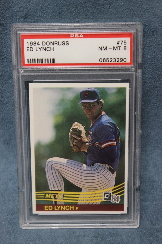 Ed Lynch 1984 Donruss New York Mets #75 PSA NM-MT 8
