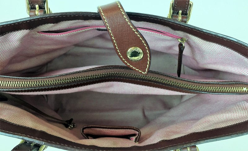 DOONEY & BOURKE LIGHT BROWN CANVAS SHOULDER BAG