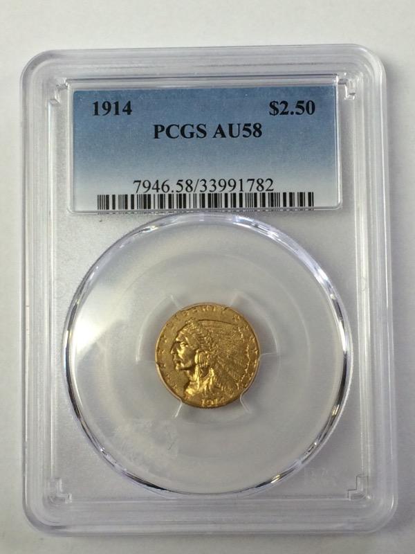 1914 GOLD INDIAN HEAD QUARTER EAGLE