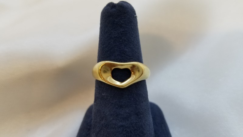 Tiffany & Co. peretti Lady's Gold Ring 18K Yellow Gold 3.6g Size:5