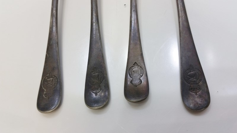 Lot of 4 Antique The Royal Mail Steam Packet Company Silver Plated Dinner Forks