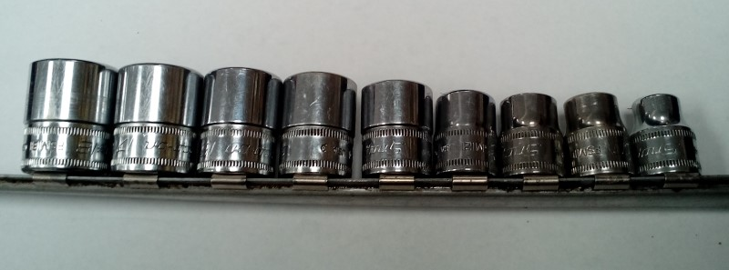 SNAP ON 12PC SHALLOW SOCKET SET 8MM-19MM