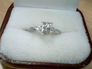 Lady's Diamond Cluster Ring 10 Diamonds .30 Carat T.W. 10K White Gold 2g