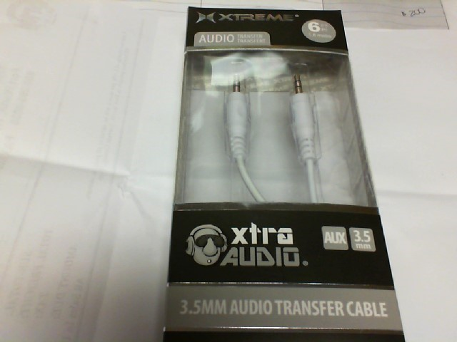 XTREME IPOD/MP3 Accessory 50602 3.5MM AUDIO TRANSFER CABLE