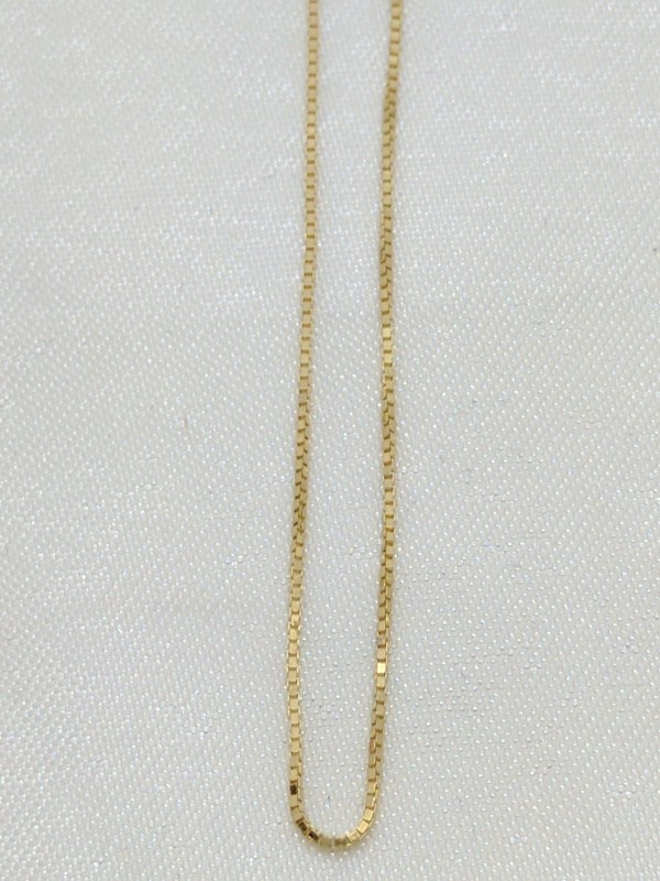 "18"" Gold Box Chain 14K Yellow Gold 1.3g"