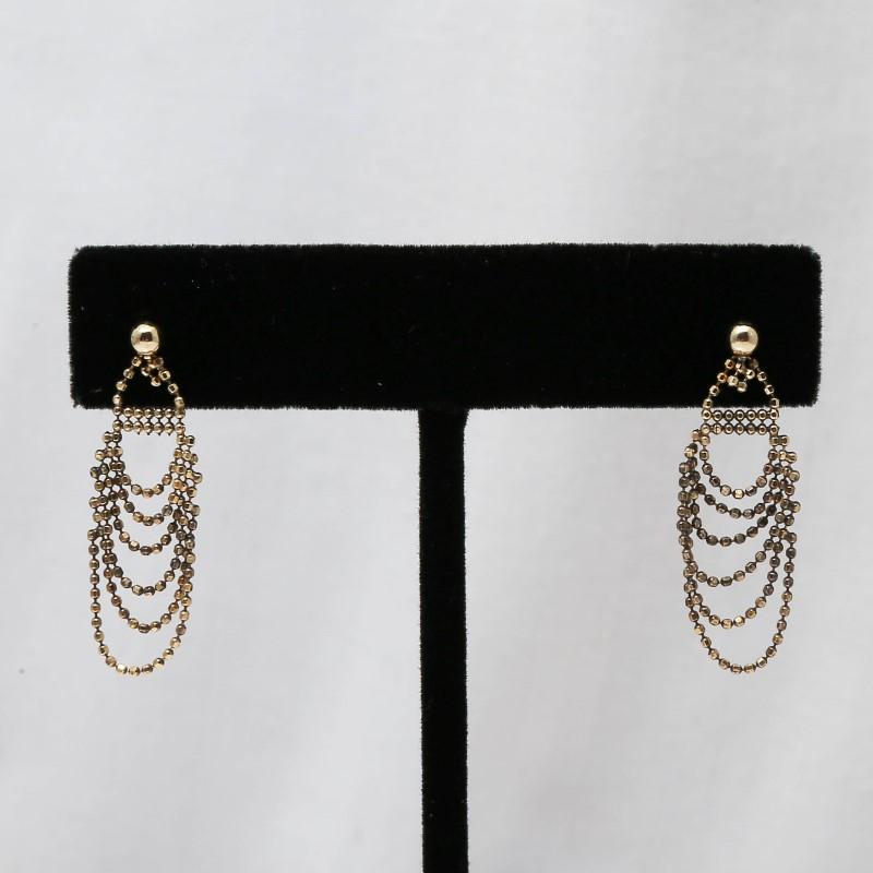 10K Yellow Gold Chandelier Dangle Earrings