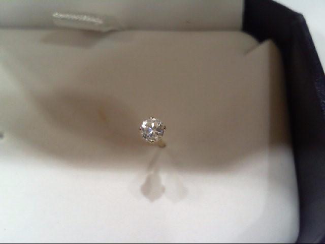 Gold-Diamond Earrings 2 Diamonds .16 Carat T.W. 14K Yellow Gold 0.3g