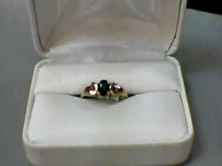 Green Tourmaline Lady's Stone Ring 14K Yellow Gold 1.6dwt Size:6