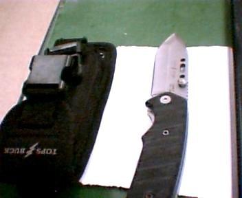 TOPS BUCK Combat Knife BUCK CSAR-T 0090BKSTP-B ROSE GRIPS