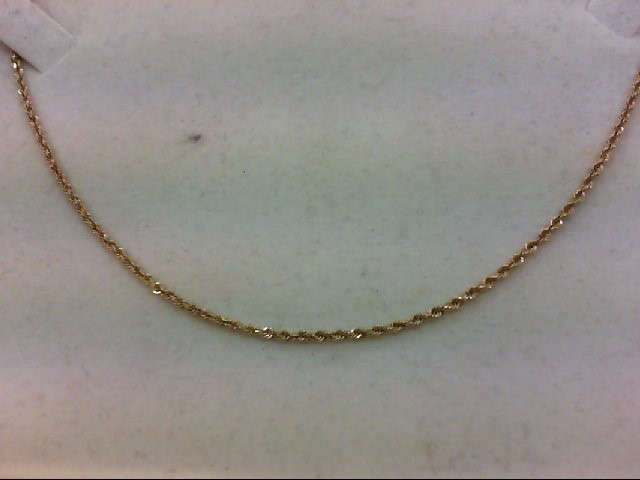 "18"" Gold Rope Chain 14K Yellow Gold 4.2g"