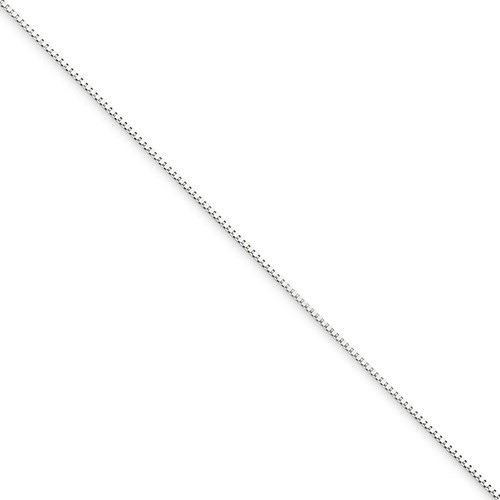 Gold Box Chain 10K White Gold 0.89g