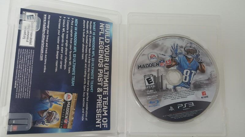 SONY PS3 MADDEN NFL 13