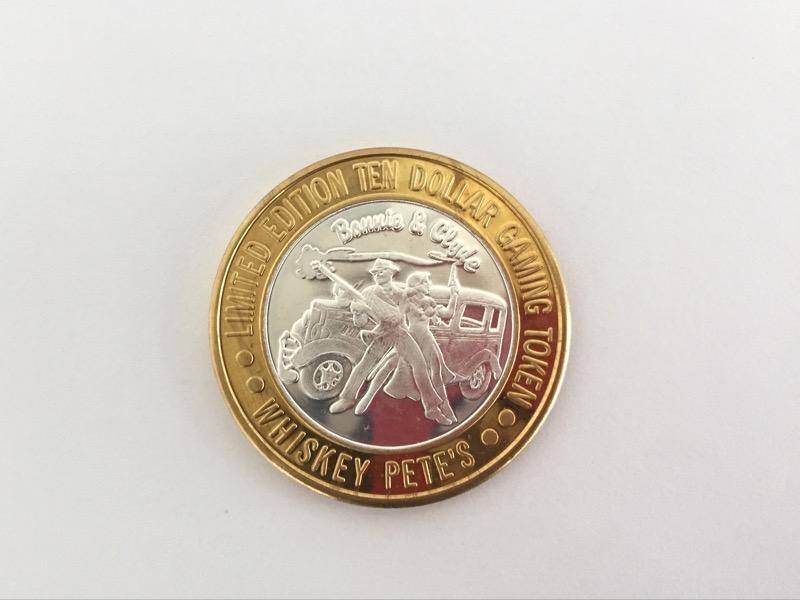 WHISKEY PETE'S .999 SILVER BULLION LIMITED EDITION TEN DOLLAR GAMING TOKEN