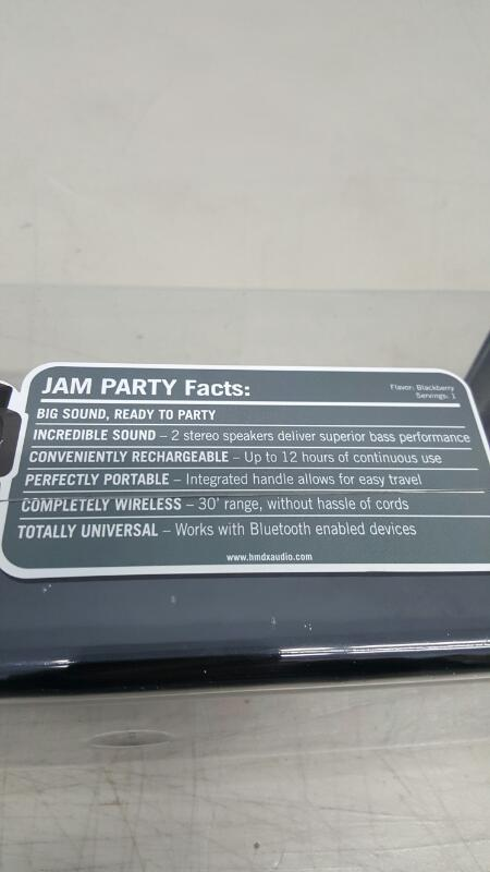 Bluetooth JAM Party HMDX HX-P730GY Rechargeable Stereo Boombox Speaker